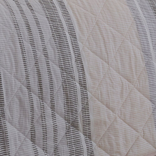 Sam Stripe Bedspread 200x220cm - Pink