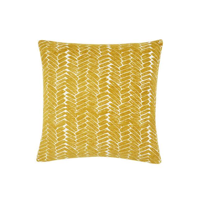 Night Peacock Cushion 45x45cm - Ochre