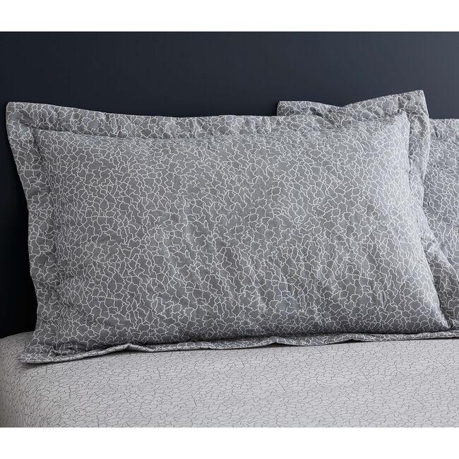 Dermot Oxford Pillowcase Pair - Grey