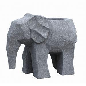 Elephant Fibre Clay Planter