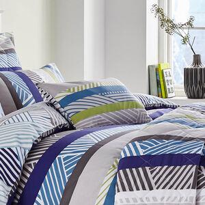 Lyons Blue/Green Cushion 30cm x 50cm