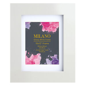 Milano Glossy White Photo Frame 10x12""