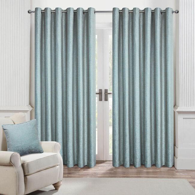 BRICKS DUCK EGG 66x54 Curtain