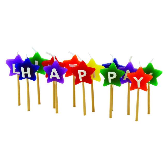 Tala Happy Birthday Star Candles
