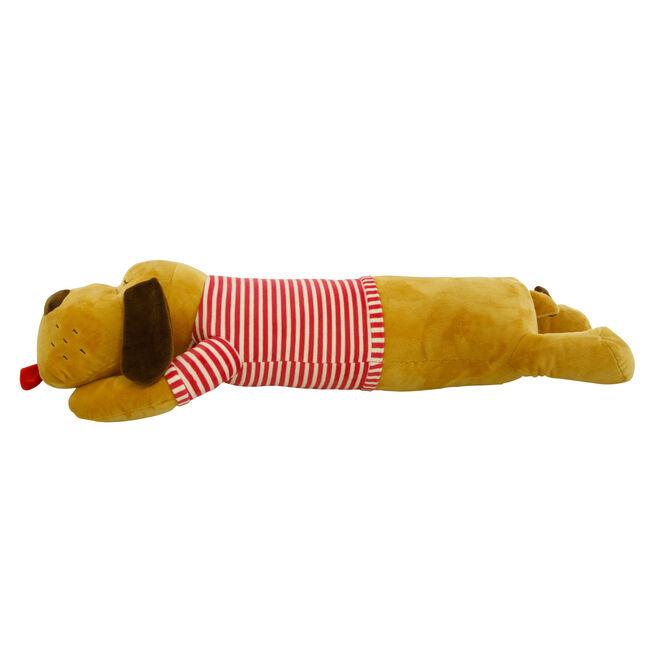 Lying Dog Red Cushion 70cm
