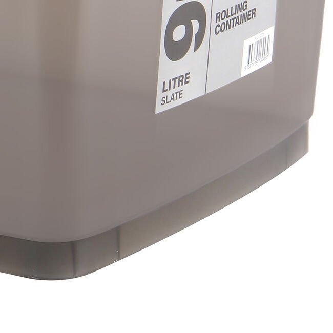 Rolling Storage Box 46l Slate Home Store More