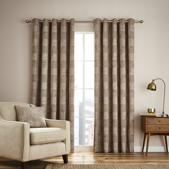 PATCHWORK COFFEE 66x54 Curtain