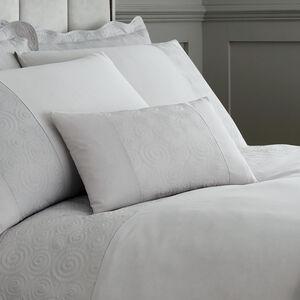 Swirls Cushion 30 x 50cm - Silver