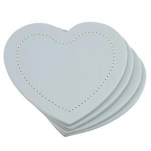 Reversible Heart Coasters - Grey & Duck Egg