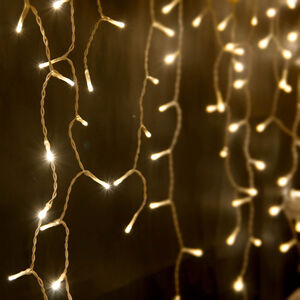 LED Solar Curtain Light 204 Pack - Warm White
