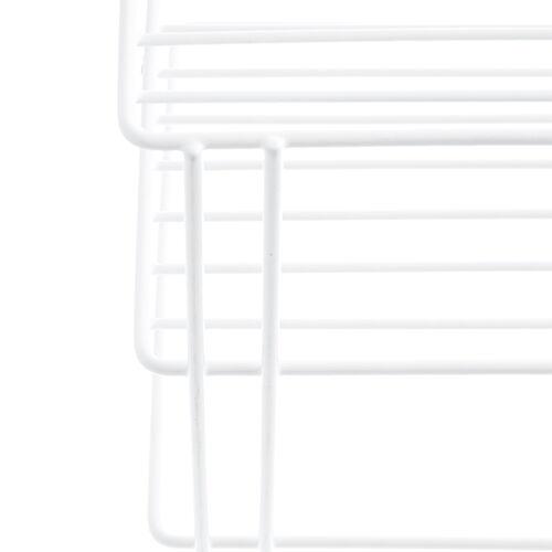 Square 3 Tier Corner Shelf White