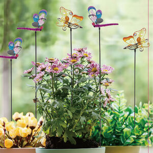 Butterfly and Dragonfly Garden Stake