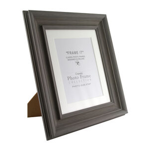 Slate Grey Photo Frame 6x8""