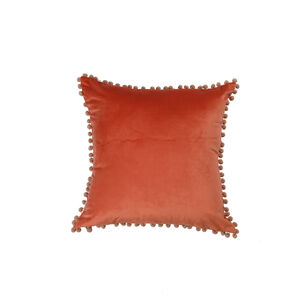 Pom Pom Cushion 45x45cm - Orange