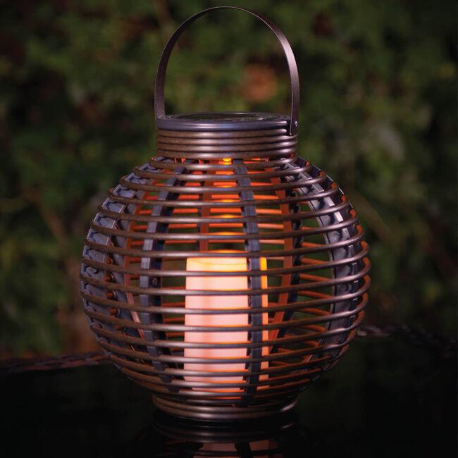 Verona Rattan Solar Lantern