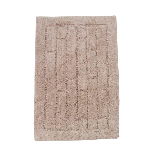 Cotton Brick Bath Mat Mocha