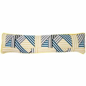 Geo Teal Draught Excluder 22cm x 90cm