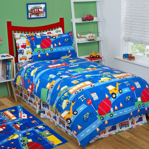 TRAFFIC JAM Junior Bed Fitted Sheet