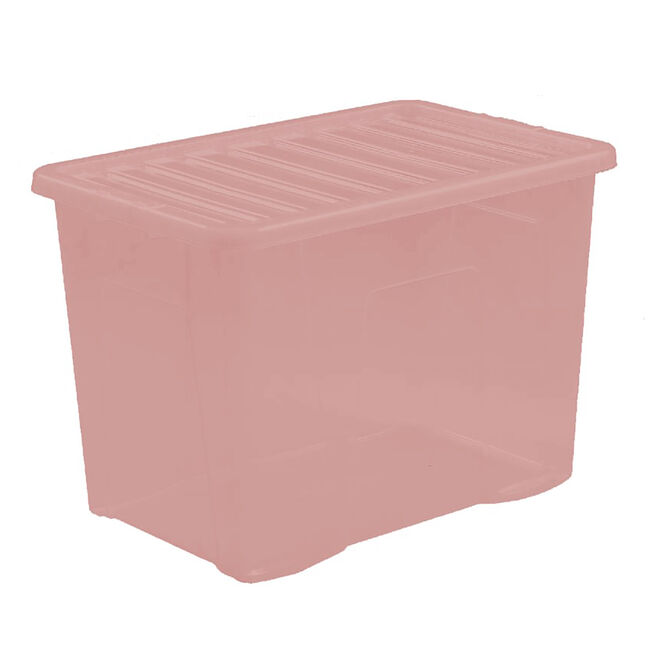 Crystal Box & Lid 80L - Soft Blush Pink