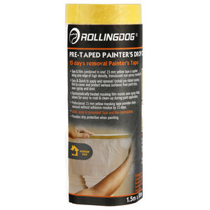 Rolling Dog Pre-Taped Painters Drop Cloths