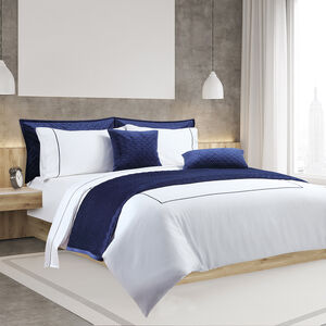 SINGLE DUVET COVER Single Stitch Navy 300tc