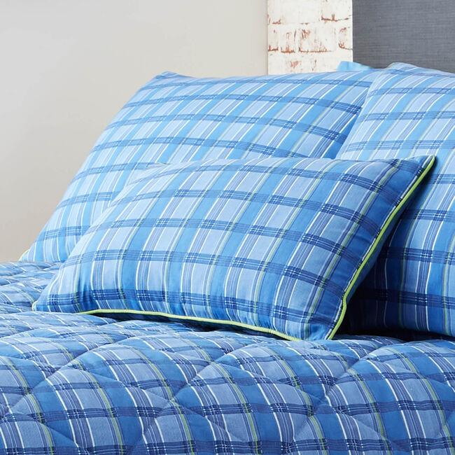 Plaid Perfection Navy/Green Cushion