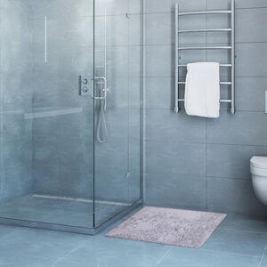 Feather Bath Mat 50x80cm - Dove Grey