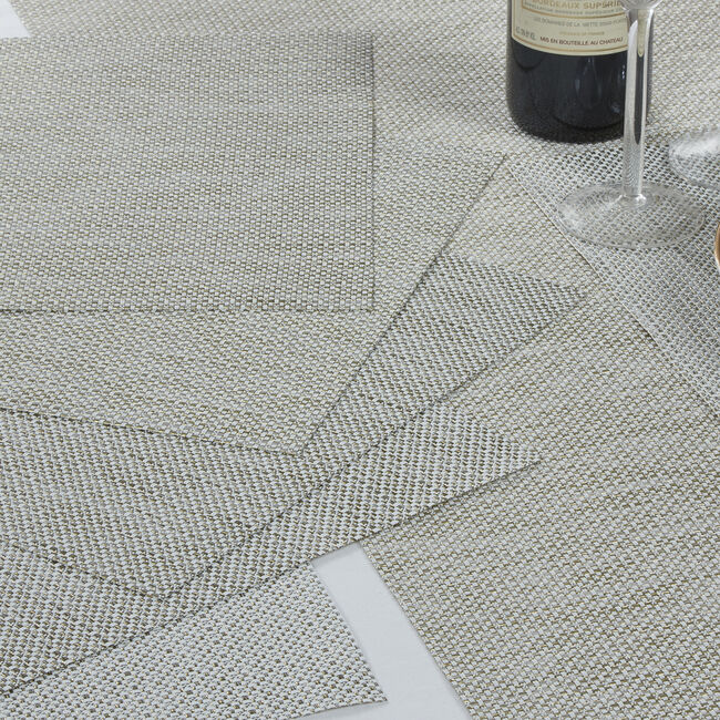 Interlaced Glimmer Placemat - Cream