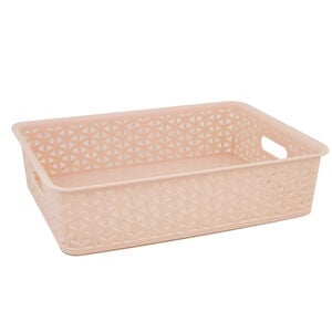 Geometric 6.5L Blush Basket