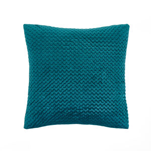 Velour Stitch Cushion 45x45cm - Green