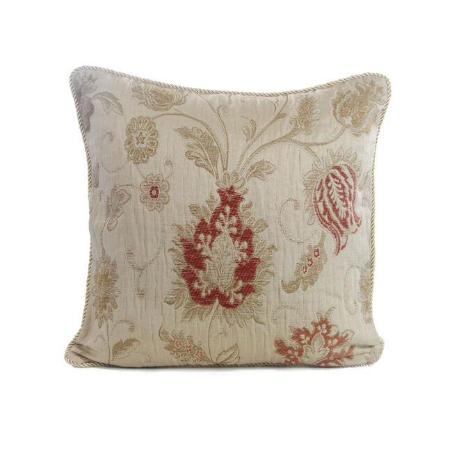 Chenille Floral Champagne Cushion