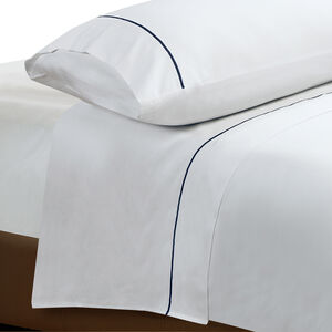 DB FLAT SHEET Single Stitch Navy 300tc
