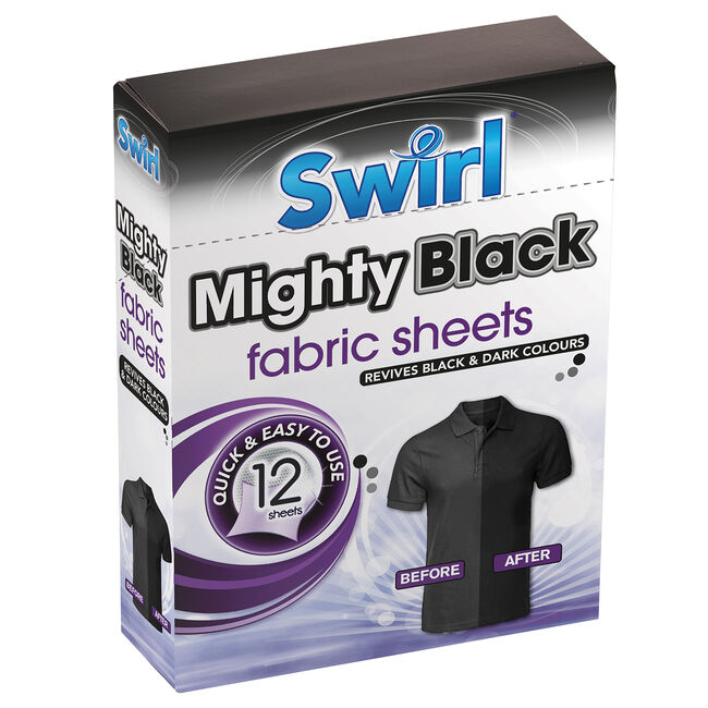 FABRIC MAGIC MIGHTY BLACK Fabric Sheets