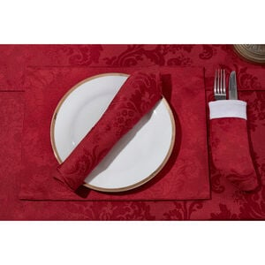 Textured Damask Red Placemat 2 Pack