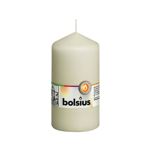 Bolsius Ivory Pillar Candle 13cm x 7cm