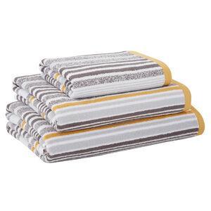 500GSM MCMARTIN STRIPE GREY/OCHRE Bath Towel