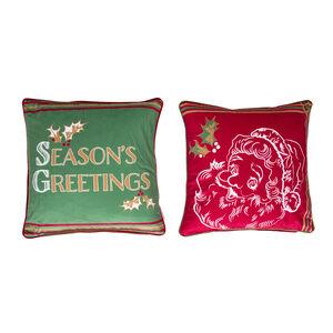 Santa Sketch Cushion Cover 45 x 45cm - 2 Pack