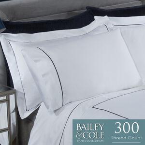 Triple Stitch 300TC Oxford Pillowcase Pair -Silver