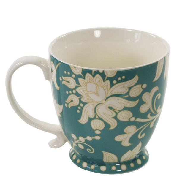 Kensington Lexi Teal Footed Mug