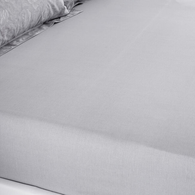 ROISIN GREY Super King Fitted Sheet
