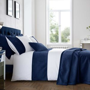 SINGLE DUVET COVER Ribeiro Velvet Navy