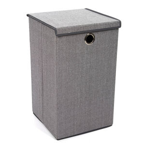 Tweed Light Grey Foldable Laundry Hamper