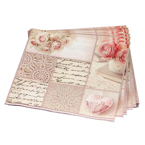Patchwork Rose Pink Napkins 20pk