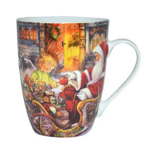 Love Christmas Santa and the Little Girl Mug