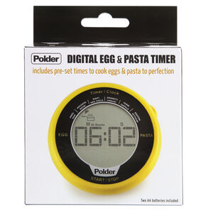 Polder Digital Egg & Pasta Yellow Timer