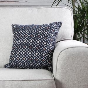 Mairead Diamond Denim Cushion 58cm x 58cm