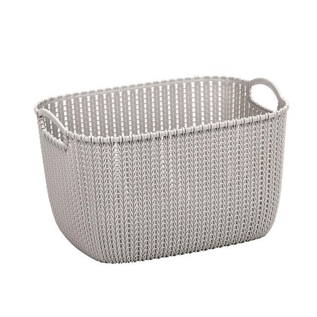 Knit Charcoal 20L Storage Organiser