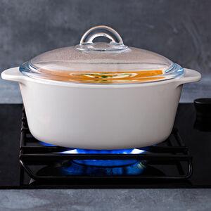 Pyrex 2L Flame Round Casserole Dish