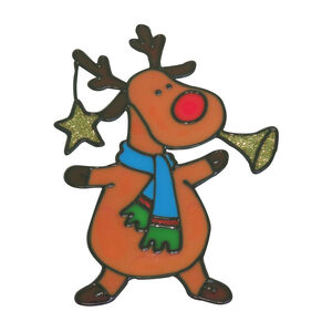 Merry Christmas Window Sticker Rudolph