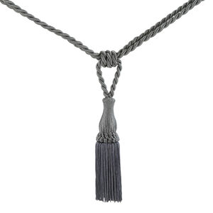 Elegance Small Rope Charcoal Tieback